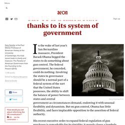 The US is a failed state thanks to its system of gov...