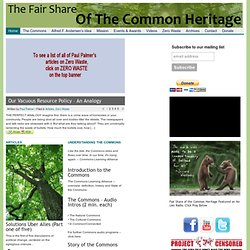 The Fair Share of the Common Heritage |