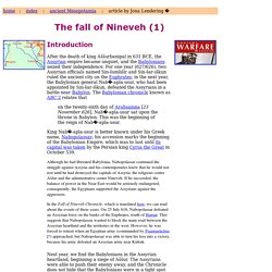 The fall of Nineveh: introduction