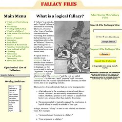 What is a logical fallacy?
