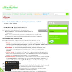 The Family & Social Structure
