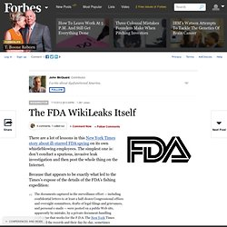 The FDA WikiLeaks Itself