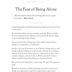 The Fear of Being Alone