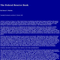 The Federal Reserve Bunk
