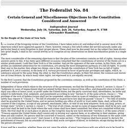federalist essay 84