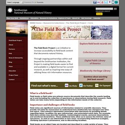 The Field Book Project