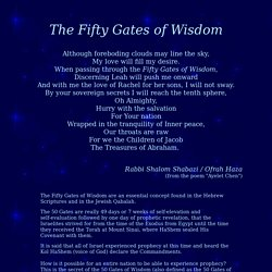 The Fifty Gates of Wisdom