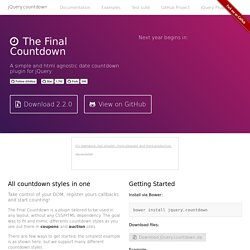 The Final Countdown - jQuery.countdown