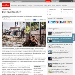 Sanitation in India: The final frontier