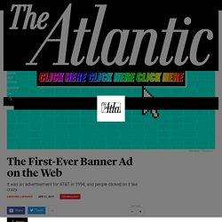 1994 The First-Ever Banner Ad on the Web - The Atlantic