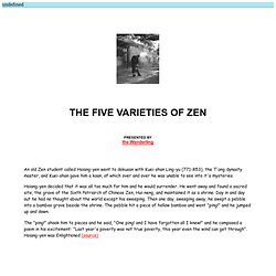 The Five Varieties of Zen