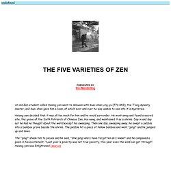 The Five Varieties of Zen