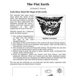 The Flat Earth.