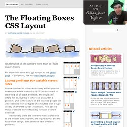 The Floating Boxes CSS Layout