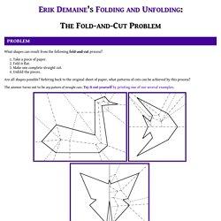 The Fold-and-Cut Problem (Erik Demaine)