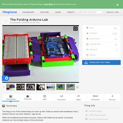 The Folding Arduino Lab by jasonwelsh