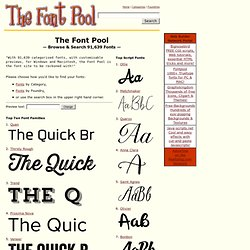 The Font Pool