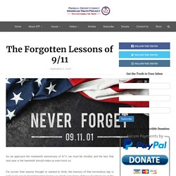 The Forgotten Lessons of 9/11