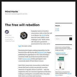 The free will rebellion