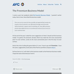 The Freemium Business Model