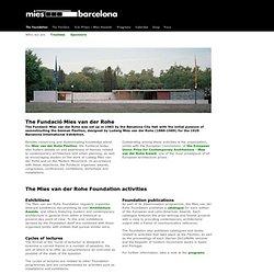 The Fundació Mies van der Rohe