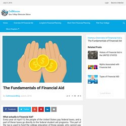 The Fundamentals of Financial Aid