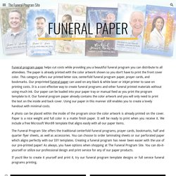 The Funeral Program Site - Funeral Paper