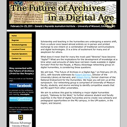 The Future of Archives in a Digital Age