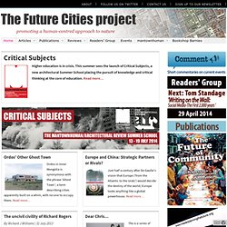 Future Cities ProjecT: Home