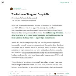 The Future of Drag and Drop APIs