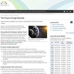 The Future of Leap Seconds