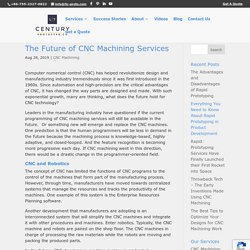The Future of CNC Machining Services