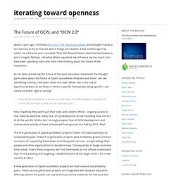 "iterating toward openness "" Blog Archive "" The Future"