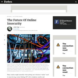 The Future Of Online Insecurity