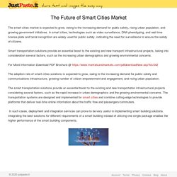 The Future of Smart Cities Market