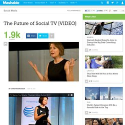 The Future of Social TV [VIDEO]