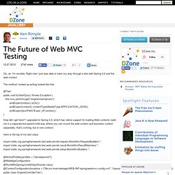 The Future of Web MVC Testing