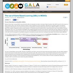 The use of Game Based Learning (GBL) in MOOCs