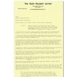 The Gary Halbert Letter