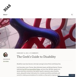 The Geek's Guide to Disability