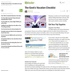 The Geek's Vacation Checklist