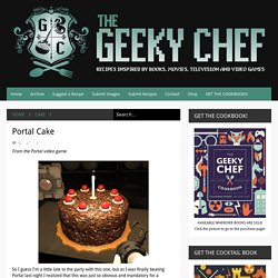The Geeky Chef: Portal Cake