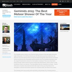 The Geminid Meteor Shower 2015