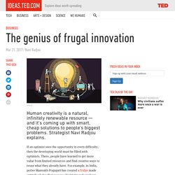 The genius of frugal innovation