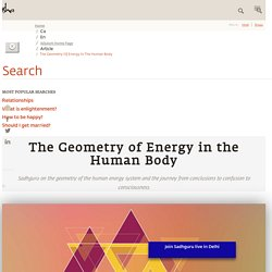 The Geometry of Energy in the Human Body