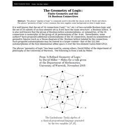The Geometry of Logic