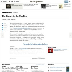 The Ghosts in the Machine