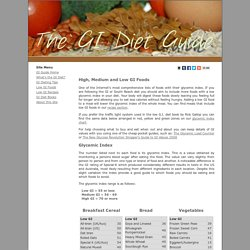 The GI Diet - List of low GI foods