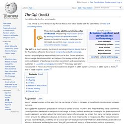 The Gift (book) - Wikipedia (Annotated)