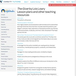 """The Giver"" Lesson Plans"
